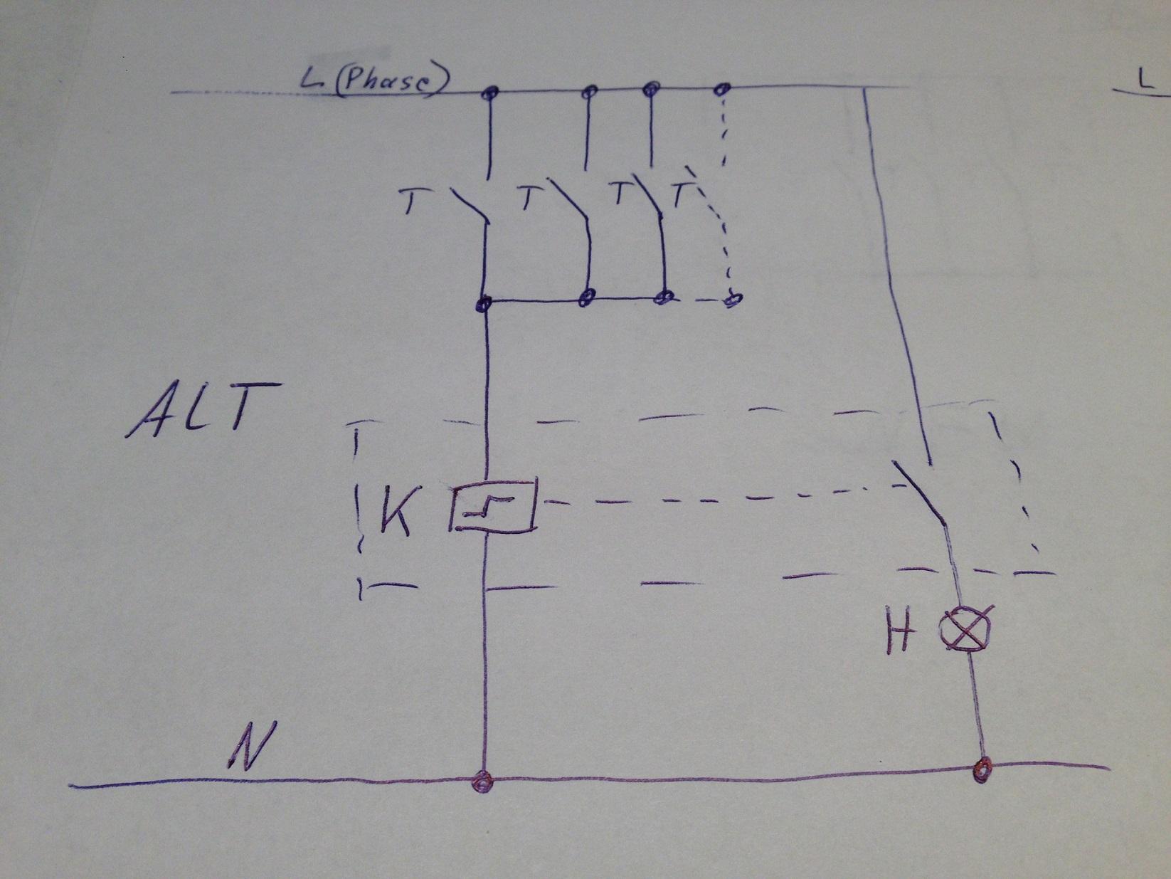 Ziemlich 3 Draht 3 Wege Schalter Ideen - Schaltplan Serie Circuit ...